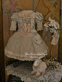 Marvelous French Bebe Costume with Bonnet