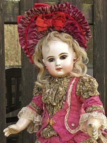 Gorgeous French Bisque Bebe E.J. size 7 by Emile Jumeau