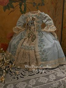 Stunning French Marie Antoinette Poupee Costume