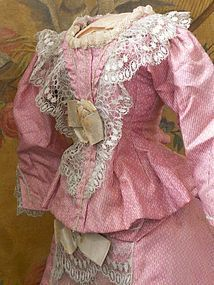 Pretty 19th. Century Two Piece Poupee Silk Costume