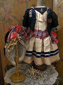 Elegant French Three Piece Bebe Costume