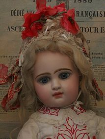 Unusual French Bisque Bebe Attribute by Jumeau Factory