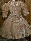 Pretty French Bebe Silk Costume with Bonnet