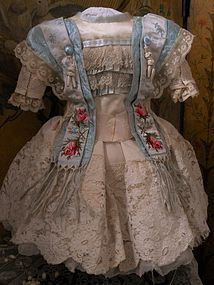 Amazing French Couture Costume with Bonnet