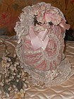 Superb 19th. Century French Bebe Lace Bonnet
