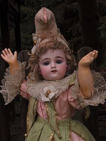 Stunning French Bisque Bebe by Gaultier in Original Costume