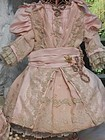 Marvelous French Silk Bebe Costume with Bonnet