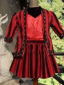 Nice French Vintage Two Piece Velvet Costume