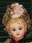 Superb 19th. Century French Doll Straw Bonnet