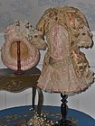 Superb French Bebe Silk Sateen Costume with Straw Hat