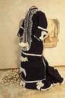 Nice 1880th. century Antique Original Blue Poupee Costume