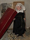 All Original French Bisque Bebe in Religious Costume with History