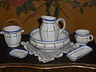Pretty French Doll´s Porcelain Toilette Set