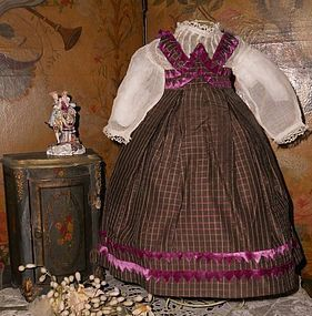 Pretty French Huret Period Fashion Gown