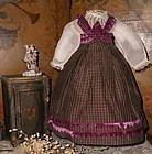 Pretty French Huret Period Fashion Gown