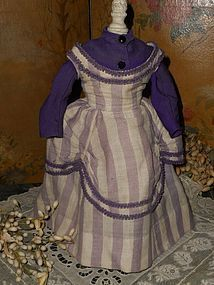 Most Beautiful early French Woolen Poupee Gown