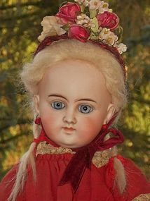 Very Beautiful Bisque Closed Mouth Doll for French Market