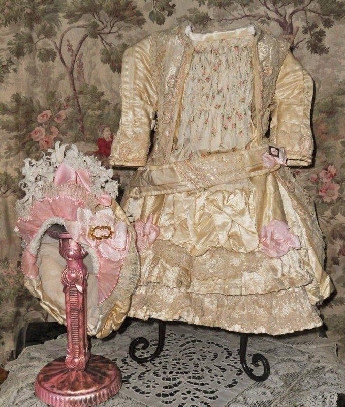 Pretty Three Piece French Bebe Silk Costume