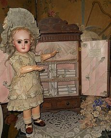 "Rare Bebe´s Wooden "" Petite Armoire "" from Paris Doll Shop"