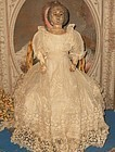 Unusual Early Wooden Doll with Carved Hair