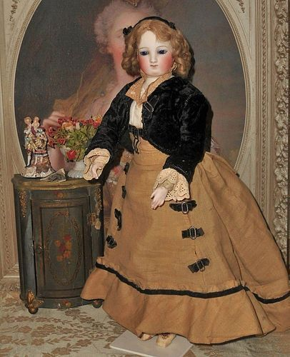 Rare Articulated Parisienne Doll by Julien Ernest Pannier