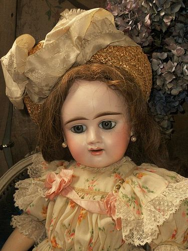 Lovely French Bisque Bebe Girl by Denamur