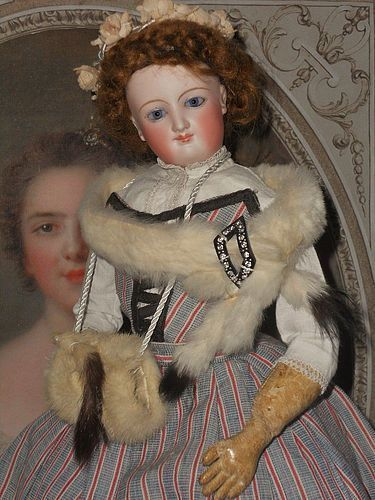 French Bisque Smiling Poupee by Leon Casimir Bru