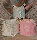 Pretty Three Piece Set of Antique Bebe Corsets