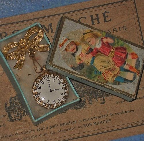 Beautiful French Poupee Faux - Watch in Box