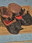 """Rare Bebe Shoes from Paris Doll Shop """" Au Paradis des Enfants """""""