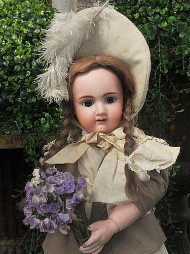 Pretty Antique French Bisque Bebe by Jullien , Paris 1890