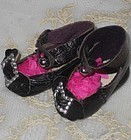 Rare Tiny Size 1 Antique Leather Shoes for Size One Bebe