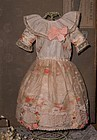 Very Beautiful Original Antique Silk Dress with Ribbon-Work Decoration