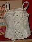 Beautiful French Antique Light Blue Bebe Corset