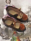 Rare Antique Greyhound Mark French Bebe Shoes