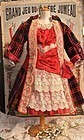 ~~~ Superb French Velvet and Jumeau Red Silk Costume ~~~