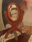 ~~~ Early Small Stand Up Mirror for French Poupee ~~~
