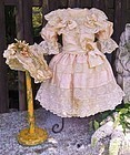 ~~~ French Romantic Bebe Silk Costume with Bonnet ~~~