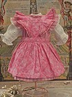 Lovely Jumeau Three Piece Cotton Outfit from Trunk on Attic Found