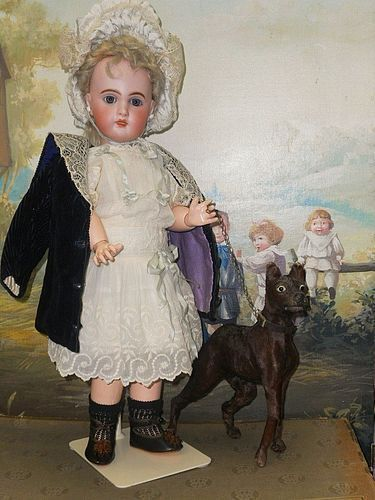 Pretty French Bisque Bebe Jumeau in Lovely Antique Costume
