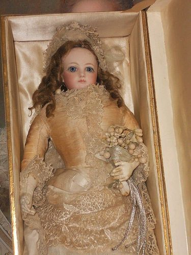Pristine All-Original French Bisque Jumeau Poupee/Wedding Presentation