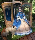 Breathtaking All-Original French Poupee in Her Original Cabinet