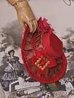 ~~~ Lovely Antique French Silk Poupee Bonnet ~~~