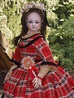 ~~~ French Bisque Poupee in fine Original Costume ~~~