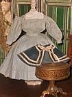 Pretty Enfantine Poupee Checkered Linen Dress with Cape