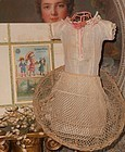 Early Antique Poupee Crinoline a. Chemise in Original Box /circa 1870