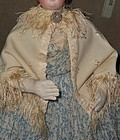 Elegant Antique French Poupee Cashmere Woolen Day Cape