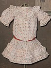 "Lovely Antique French Bebe Dress for 14""/15"" Doll"