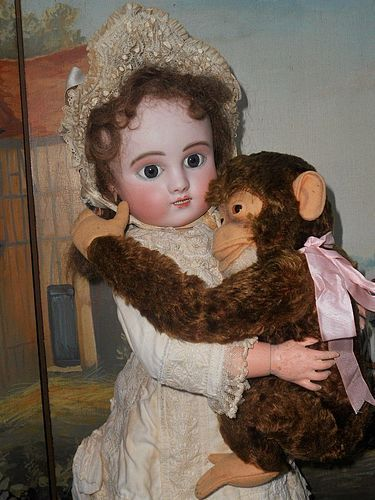 Rare French Bisque Bebe Steiner Figure C with Lever Eyes