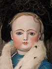 Attic Condition Large French Bisque Portrait Poupee by Jumeau